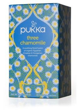 Three Chamomile Tea Bags